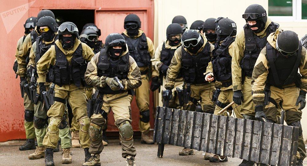 Los soldados de las divisiones especiales del Servicio Federal de la Guardia Nacional de Rusia (archivo)