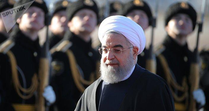 Прилет президента Ирана Х. Рухани в Москву