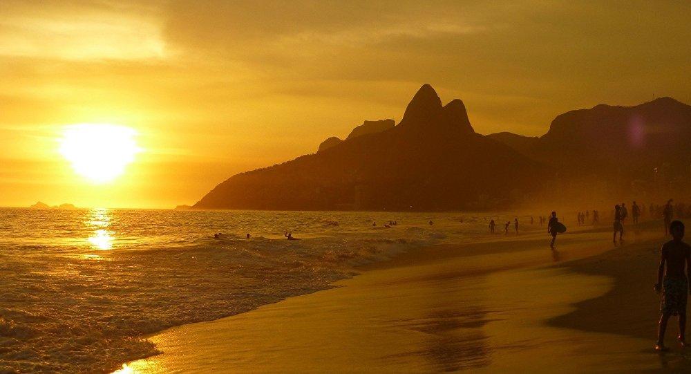 Una playa en Rio de Janeiro, Brasil