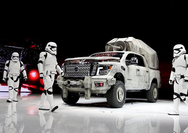 Un vehículo al estilo Star Wars