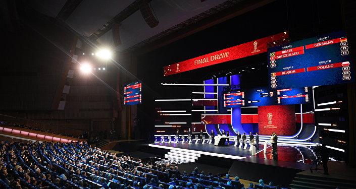 Imágnes del sorteo de grupos para la Copa del Mundo Rusia 2018