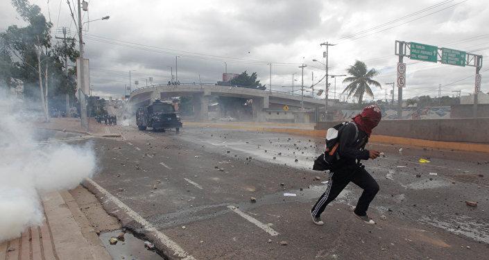 Protestas en Tegucigalpa, la capital de Honduras