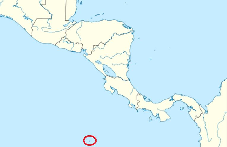 El incidente tuvo lugar en la remota isla del Coco