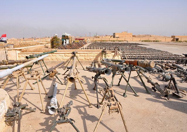 Armas arrebatadas a Daesh por el Ejército sirio (archivo)