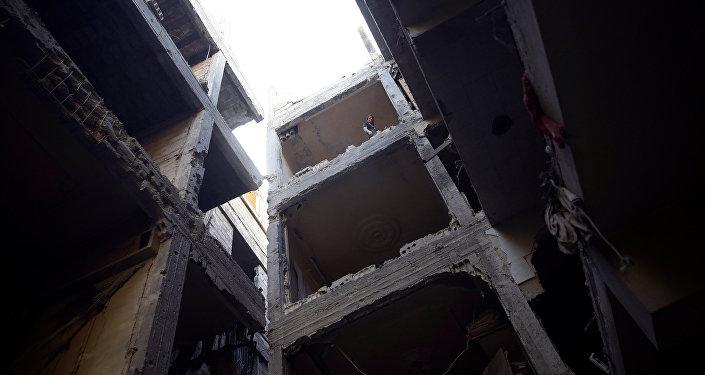 Edificios destruidos en Damasco