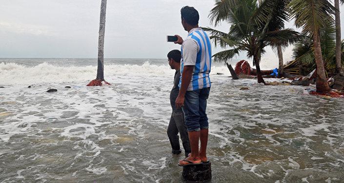 El paso del ciclón Ockhi