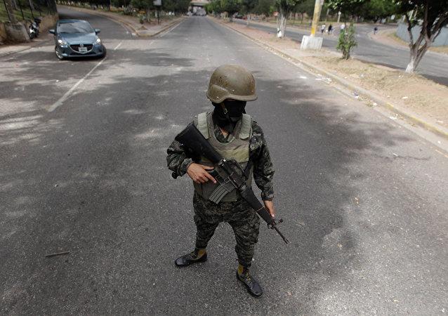 Un militar hondureño (imagen referencial)
