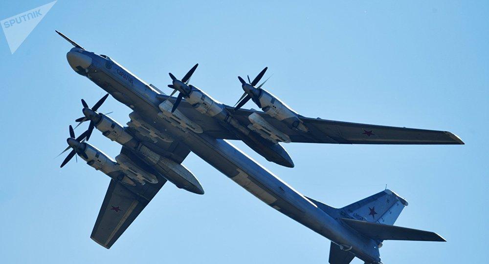 Bombardero estratégico ruso Tu-95MS