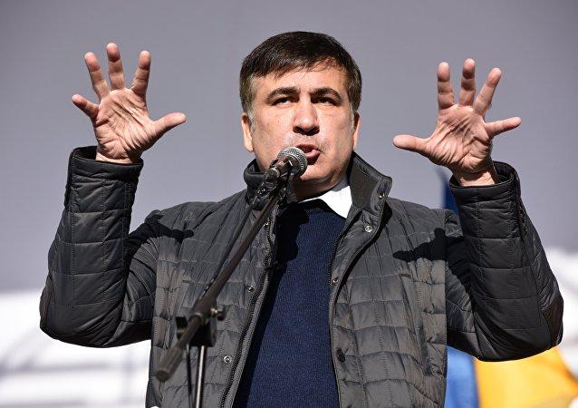 Mijaíl Saakashvili, expresidente de Georgia y exgobernador de la región ucraniana de Odesa en Kiev