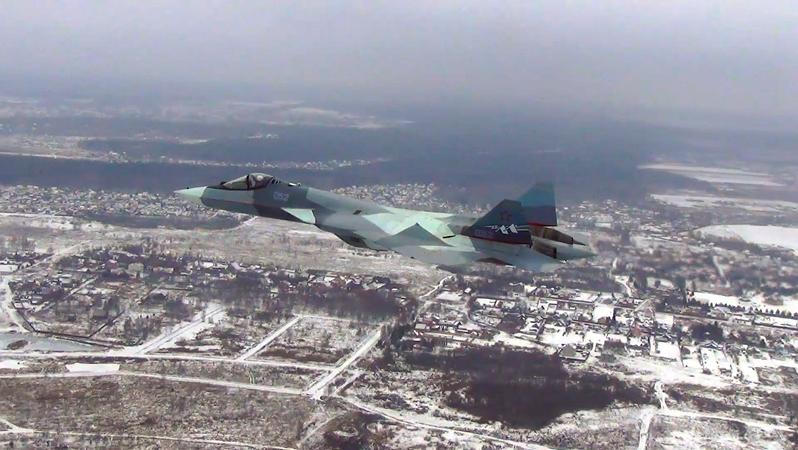 Vuelo de prueba del caza de 5ª generación Su-57, diciembre de 2017