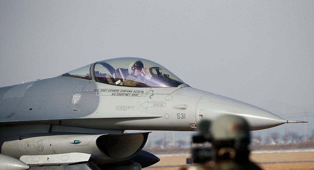 El caza estadounidense durante las maniobras Vigilant Ace (As Vigilante, en español)