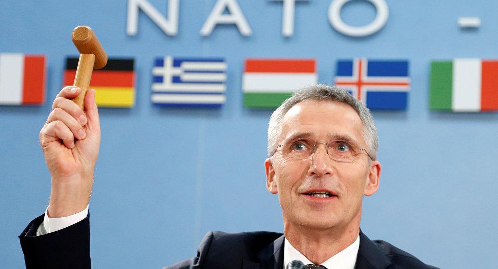 Jens Stoltenberg, el secretario general de la Alianza Atlántica durante la cumbre de los titulares de Exteriores de la OTAN