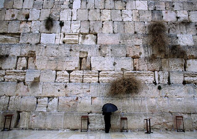Muro de Lamentaciones en Jerusalén, Israel