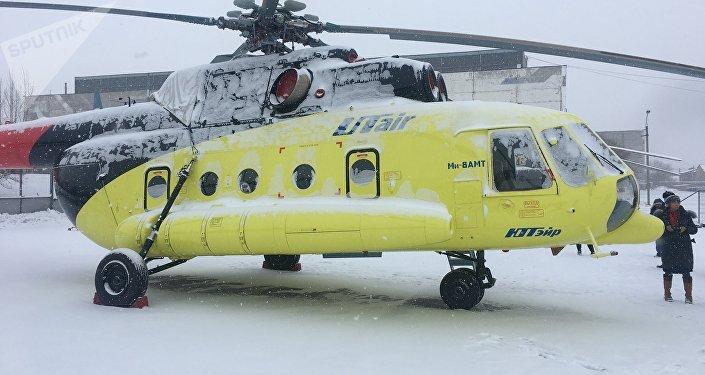 El helicóptero Mi-8AMT en la Fábrica de Aviación de Ulán Udé