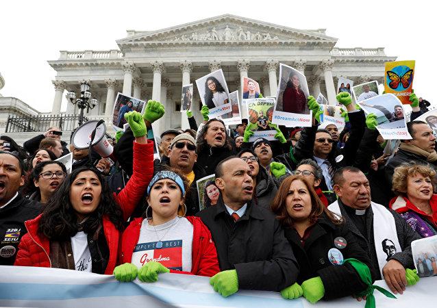 Manifestación en Washington pidiendo una solución para los 'dreamers'