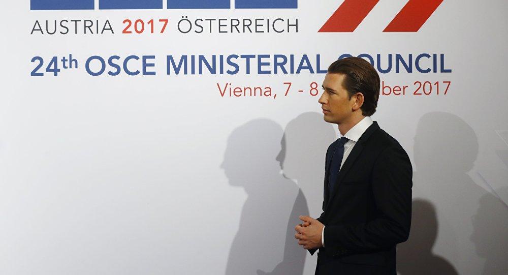 El ministro de Exteriores austriaco, Sebastian Kurz