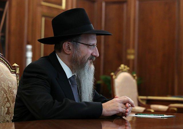 Berel Lazar, principal rabino de Rusia