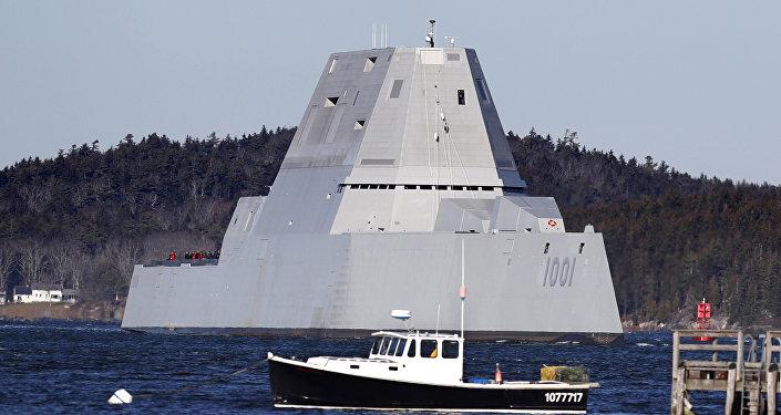 USS Michael Monsoor, buque de guerra estadounidense de clase Zumwalt (archivo)