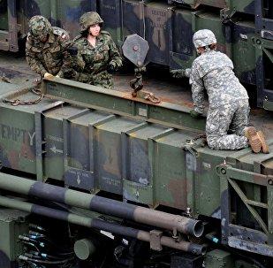 Un sistema de misiles Patriot en Polonia