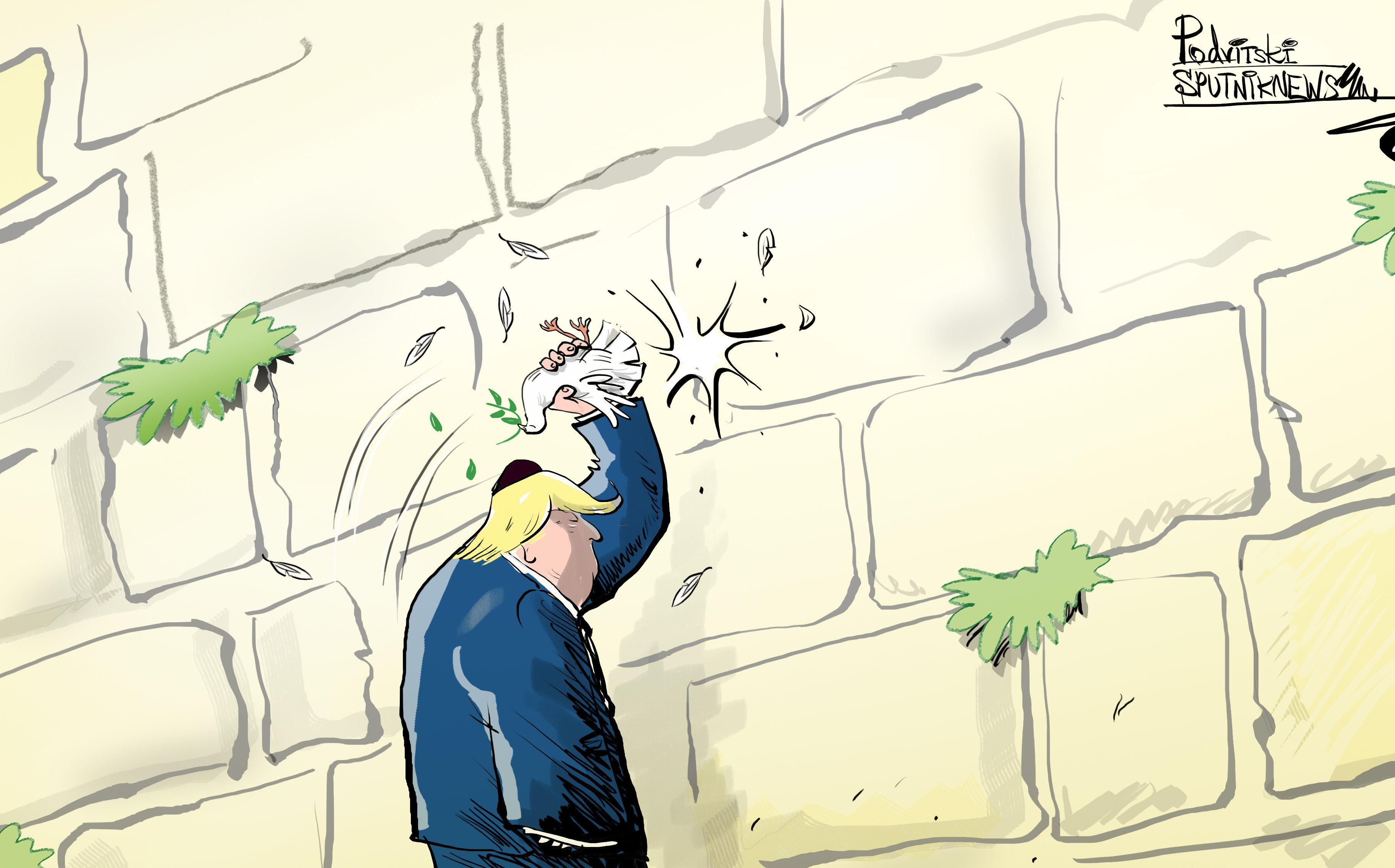 Trump corta las alas a la paloma de la paz entre Palestina e Israel