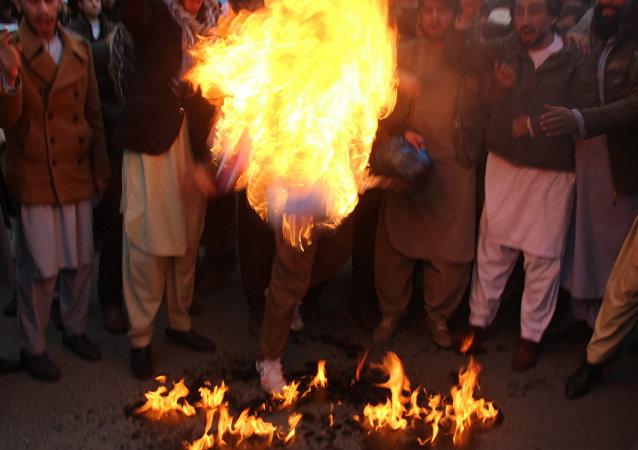 Manifestaciones de protesta en Kabul contra la decisión de Trump respecto a Jerusalén