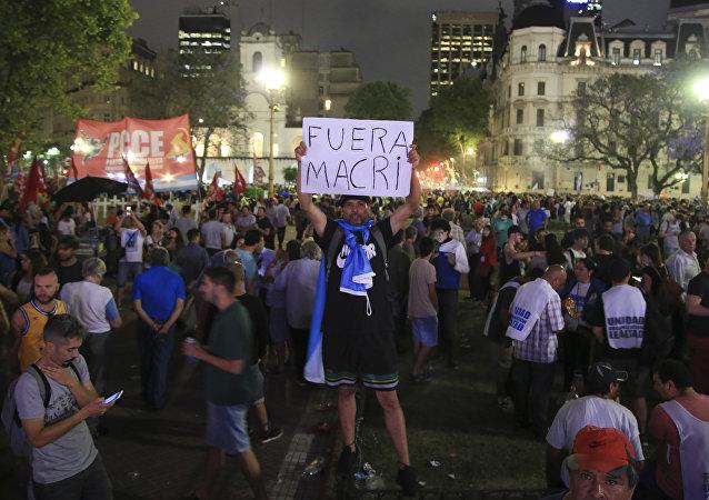 Movilización en Argentina contra el presidente Mauricio Macri