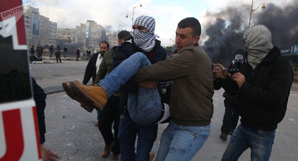 Protestas en Palestina (arhivo)