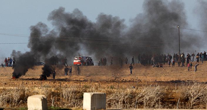 Multitudinarias protestas en la Franja de Gaza