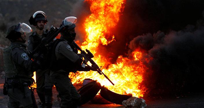 Policía fronteriza israelí