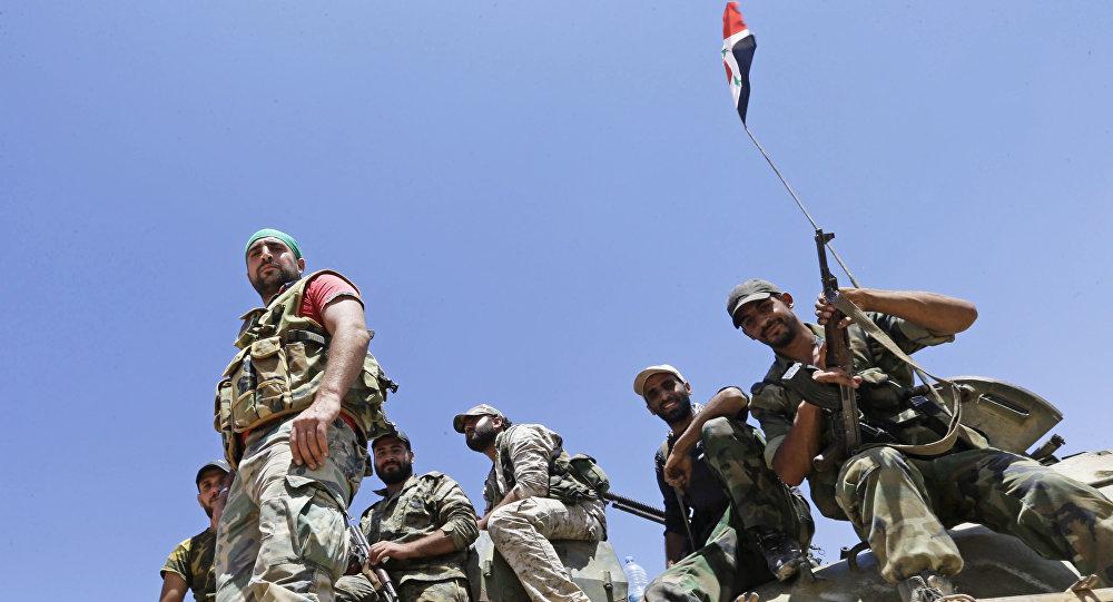Soldados del Ejército sirio