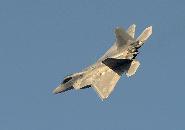 Un avión futrivo estadounidense F-22 Raptor (archivo)