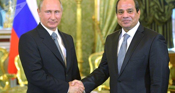 Presidente de Rusia, Vladímir Putin, y Abdelfatah Sisi, presidente de Egipto (archivo)