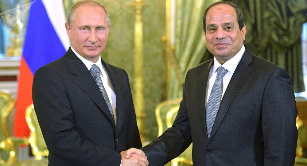 Presidente de Rusia, Vladímir Putin, y Abdelfatah al Sisi, presidente de Egipto (archivo)