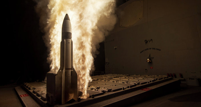 Ensayo del misil interceptor SM-3 (archivo)
