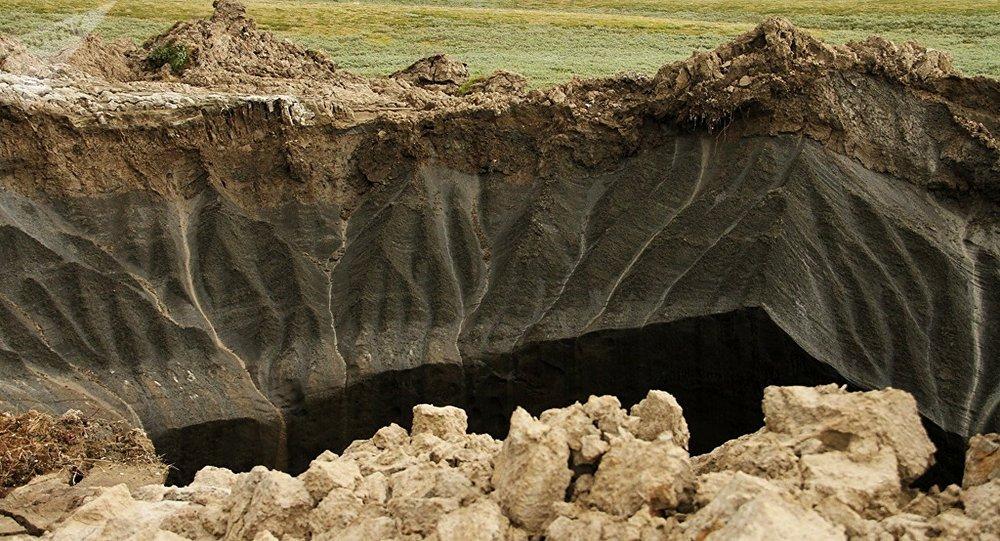 El embudo en la peínsula de Yamal