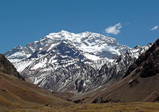 Cerro Aconcagua, en Mendoza, Argentina.