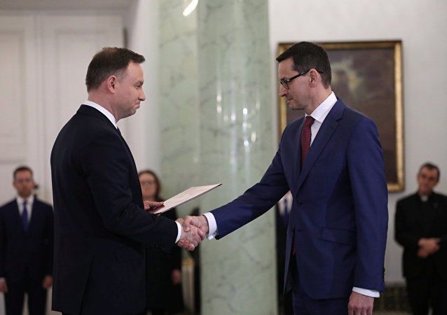 El primer ministro de Polonia, Mateusz Morawiecki y el presidente del país, Andrzej Duda
