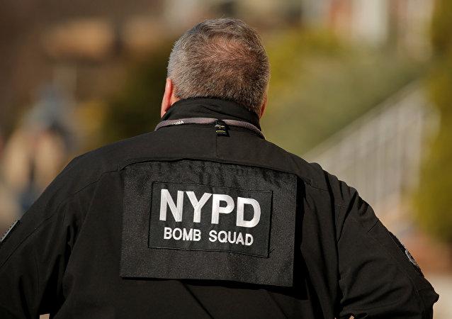Policía de Nueva York en lugar de explosión