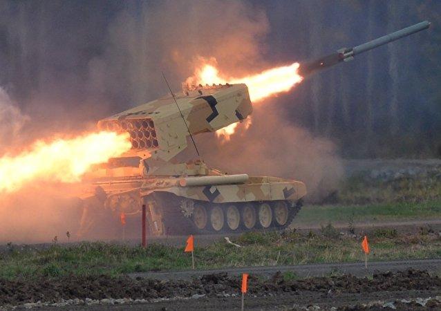 Lanzacohetes incendiario TOS-1A