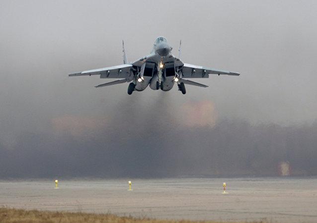 Avión ruso MiG-29SMT (archivo)