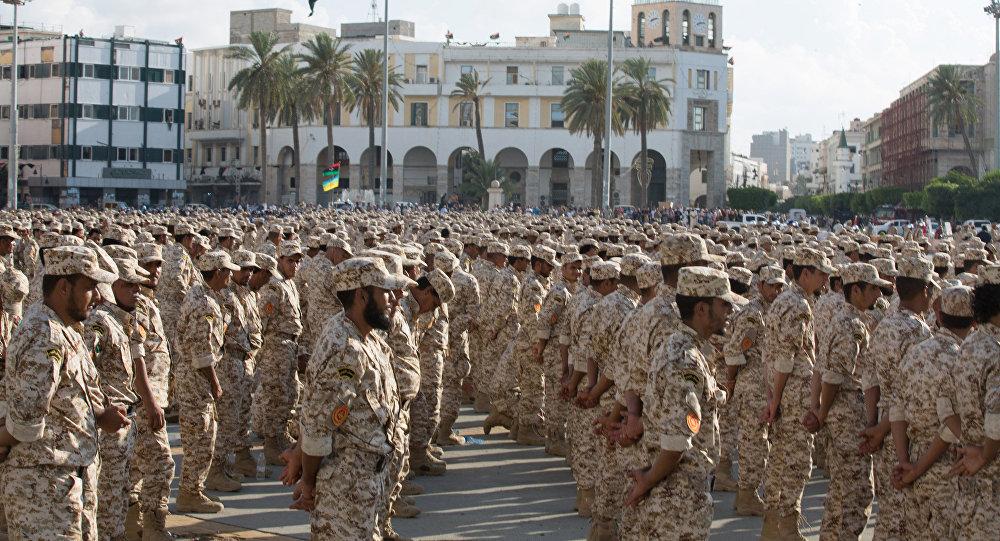 Militares del Ejército de Libia (archivo)