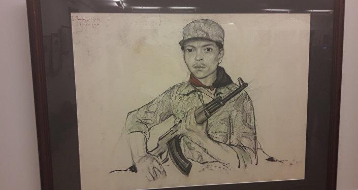 La obra 'Soldado' de Iliá Glazunov