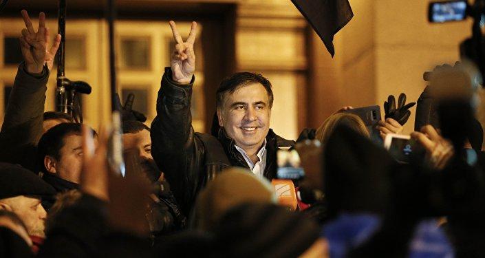 Mijaíl Saakashvili, expresidente de Georgia, en Kiev
