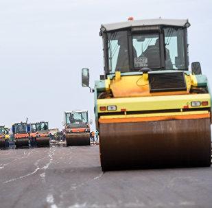 Construcción de una carretera (imagen referencial)