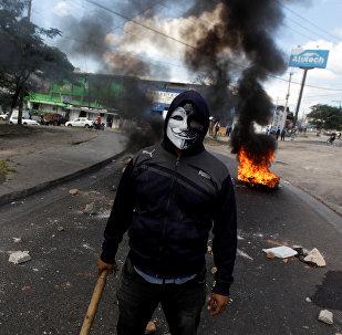 Protestas en  Honduras (archivo)