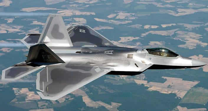 Un avión estadounidense F-22 Raptor (archivo)
