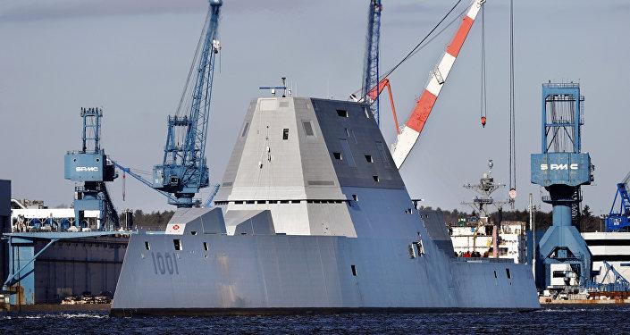El destructor USS Michael Monsoor, segundo buque de guerra de clase Zumwalt de la Armada de EEUU