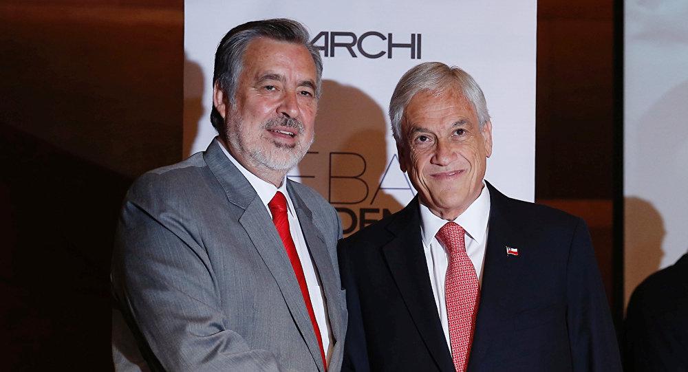 El candidato presidencial y expresidente chileno, Sebastián Piñera, y el candidato del partido gobernante Nueva Mayoría, Alejandro Guillier