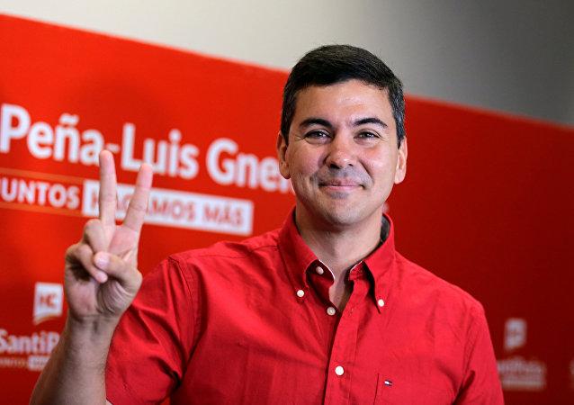 Santiago Peña, candidato a la presidencia de Paraguay
