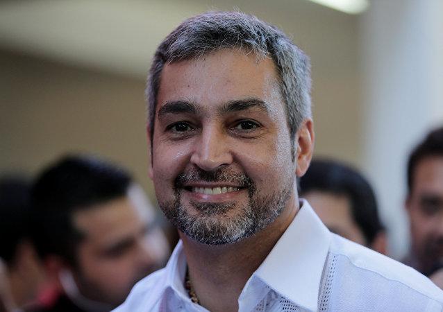 Mario Abdo Benítez, candidato disidente de la gobernante Alianza Nacional Republicana de Paraguay (archivo)